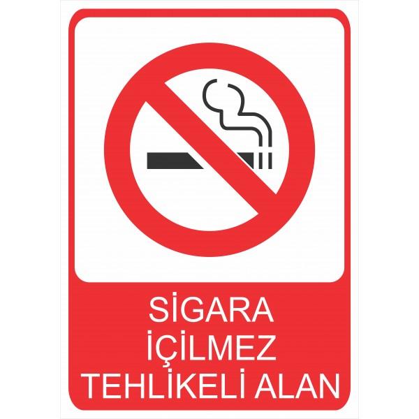 Sigara İçilmez Tehlikeli Alan Pvc Levha