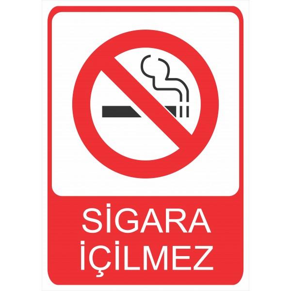 Sigara İçilmez Pvc Levha