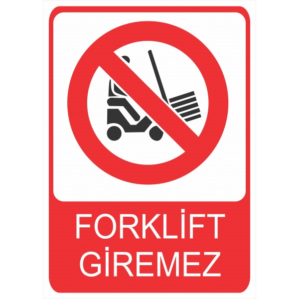 Forklift Giremez Pvc Levha