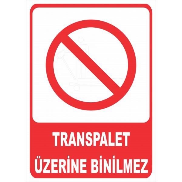 Transpalet Üzerine Binilmez Pvc Levha