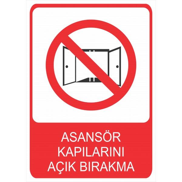 Asansör Kapılarını Açık Bırakma Pvc Levha
