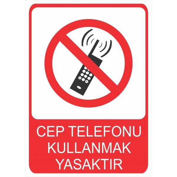 Cep Telefonu Kullanmak Yasaktır Pvc Levha