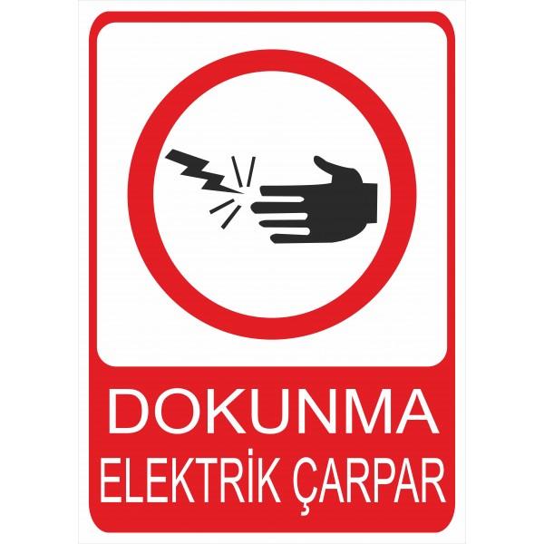 Dokunma Elektrik Çarpar Pvc Levha