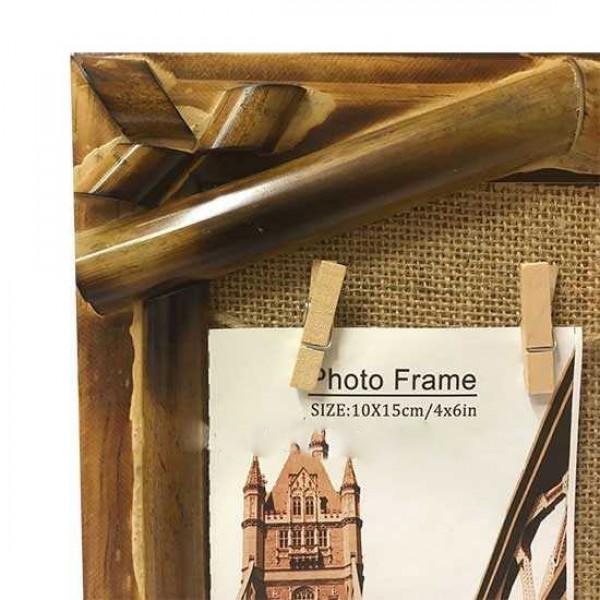 Bambu Hasır İpli Duvar Fotoğraf Çerçevesi
