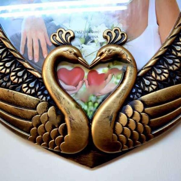 Eskitme Kalp Kuğu Çerçeve