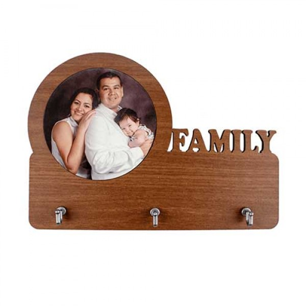 Ahşap Anahtar Askılığı Family